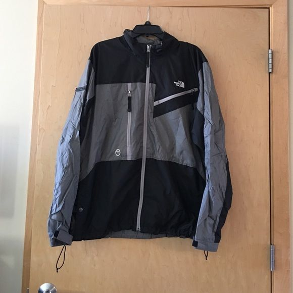 North Face Wind Breaker! North Face Wind Breaker! Worn only a free times, Size XL. 2 tiny tiny marks (shown in picture) would probably come out if cleaned. North Face Jackets & Coats Utility Jackets