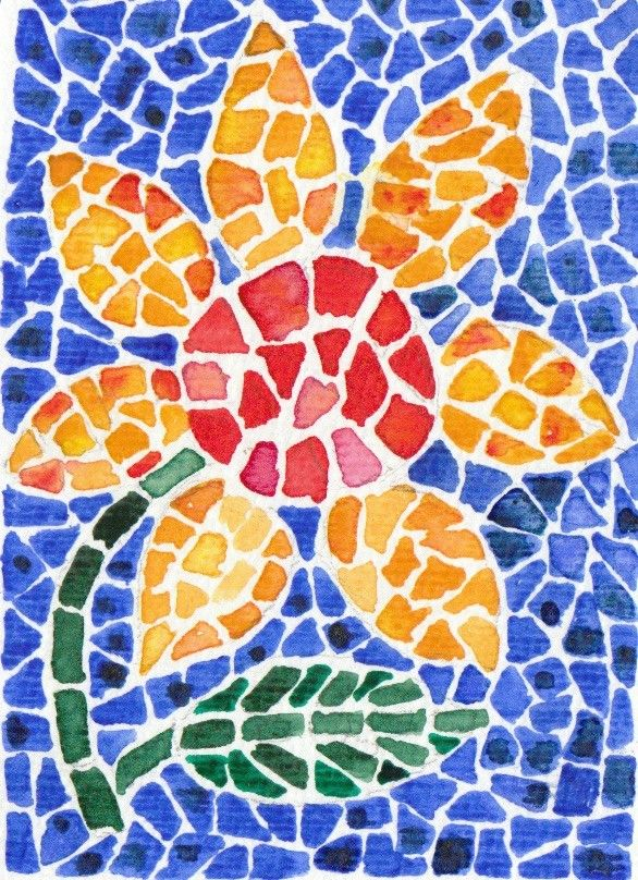 Mosaic Flower Mosaics For Kids Mosaic Projects Mosaic