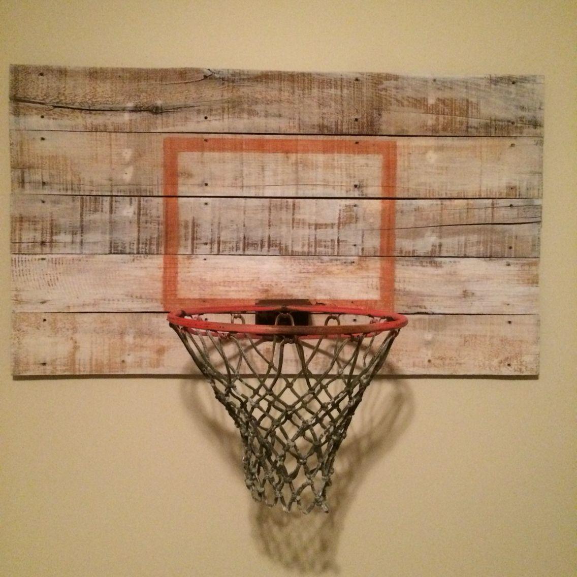 Indoor basketball hoop diy  Boys room diy, Indoor basketball hoop