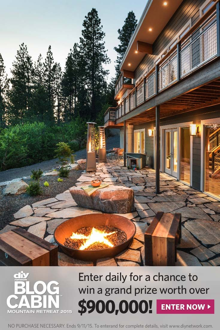 Diy Network Blog Cabin 2015 Sweepstakes Entry Cabin Vacation Home Interior Architecture Design