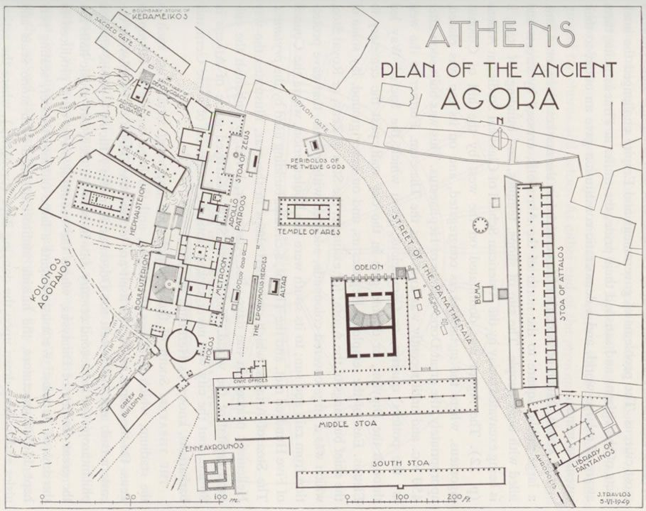 Click To See Larger Athenian Agora Map How To Plan Athenian