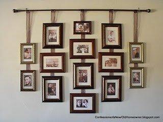 15 buenas ideas para colgar y decorar las paredes con - Decoracion de paredes con fotos ...