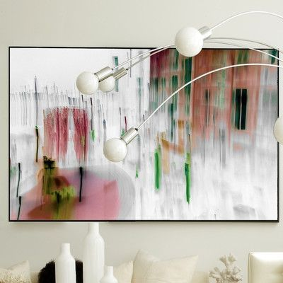 """JORDAN CARLYLE Abstract The Goodwin Framed Graphic Art Size: 43"""" H x 60"""" W, Frame Color: White Matte"""