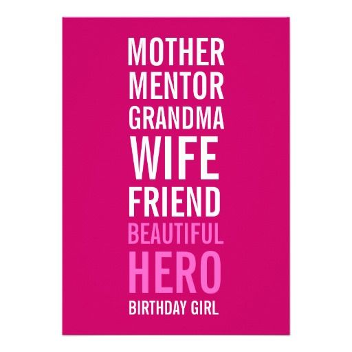Celebrating 70th Birthday Quotes: 80th Birthday Party Invitation - Mom Is A Hero