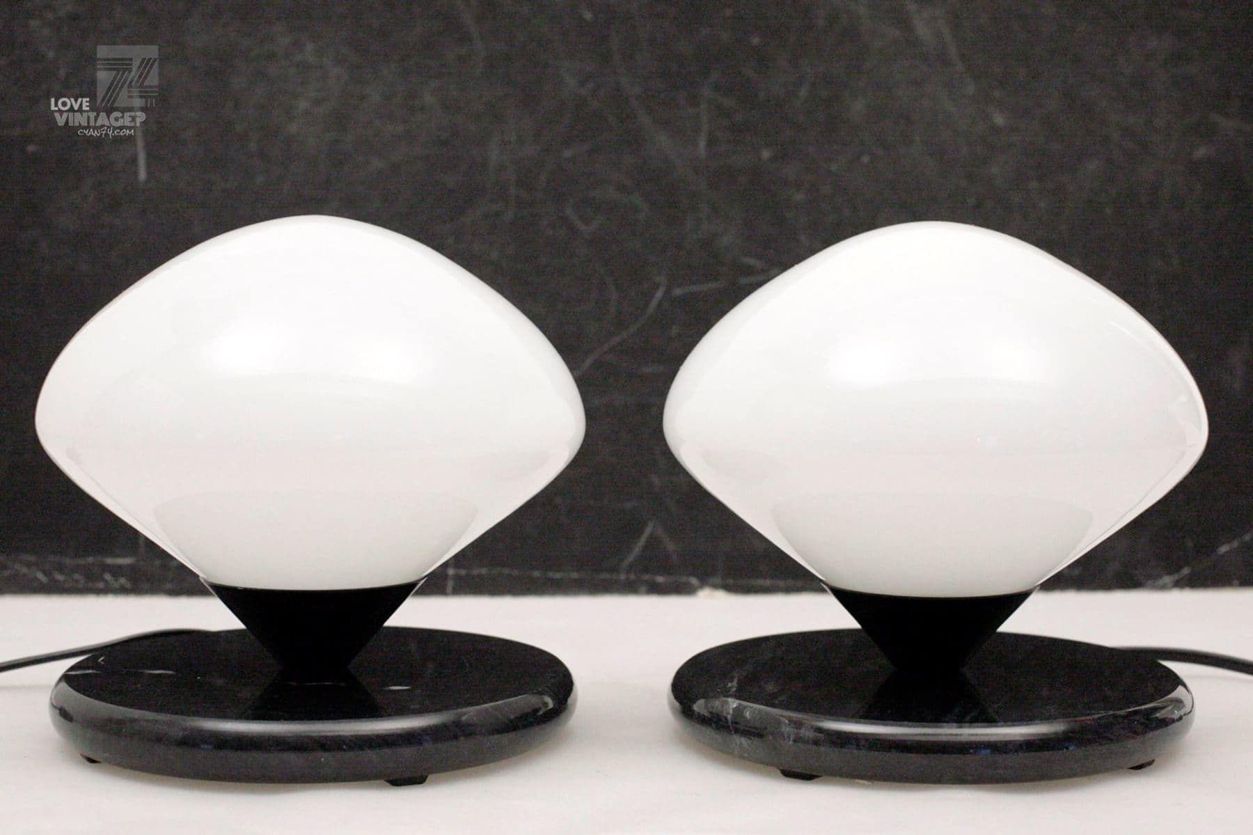 2x optelma oa 2 nachttischlampen 1970s cyan74com vintage and pop culture - Nachttischlampen