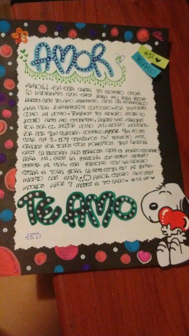 Ideas para cartas cartasromanticas cartasdeamor fotos goals decoraciones para mi novio - Que regalarle a tu novio en el primer mes ...