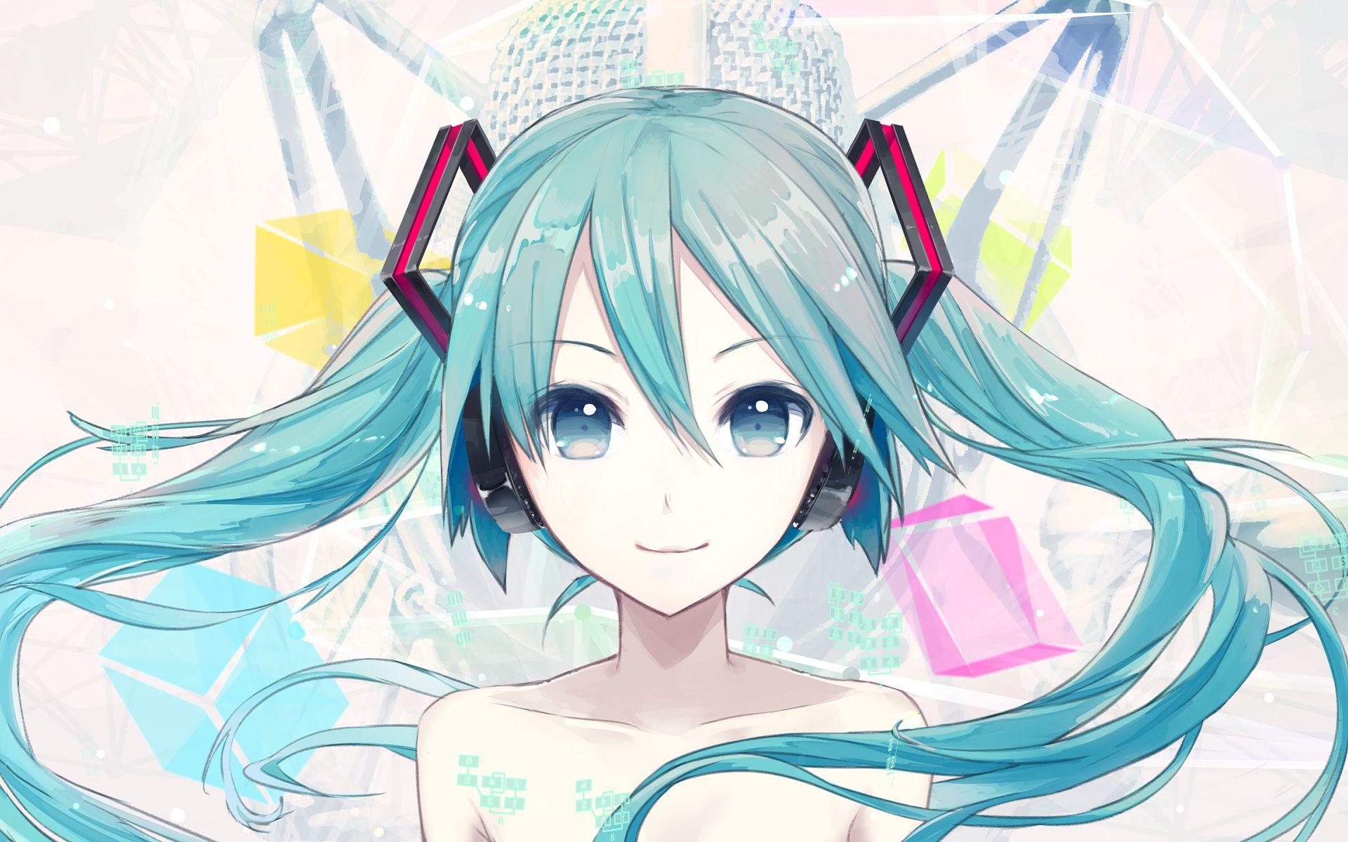 Yandere 350218 Hatsune Miku Headphones Ixima Vocaloid Wallpaper 1920x1200