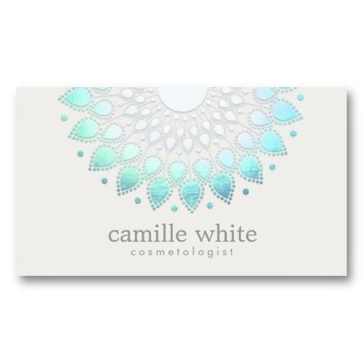 Elegant lotus holistic spa and beauty business card cosmetology cosmetology elegant circle light blue off white business card colourmoves