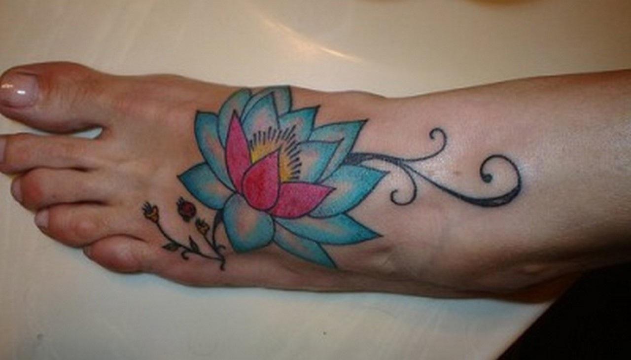 Foot Flower Tattoos Lotus Foot Tattoo Tattoo Pinterest Flower
