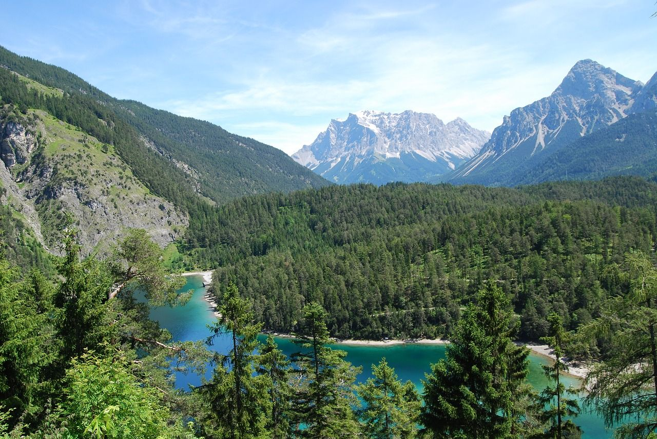 Forest Alps Landscape Mountain River Views Forest Alps Landscape Mountain River Views Zugspitze Mountain Huts Historical Maps