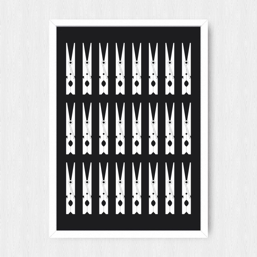 Black clothespin print laundry room decor laundry minimalist black clothespin print laundry room decor laundry minimalist print nursery poster amipublicfo Gallery