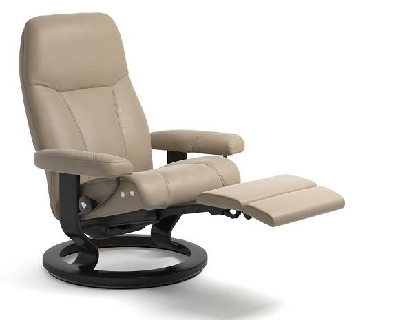 The Stressless Consul Is A Scandinavian Design Comfort Recliner View Product Details Now And Find Your Loc Stressless Recliner Stressless Chair Recliner Chair