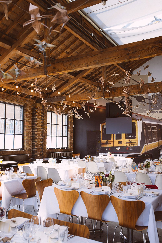 barn wedding venue london%0A Paper Crane and Globe Themed Wedding  Cathy and Gerard