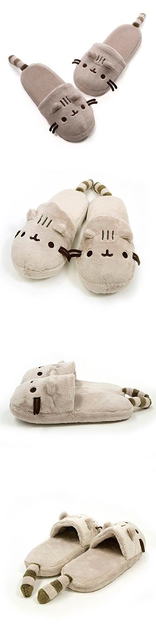 83efa07a511 Gund 2598  Gund Pusheen Cat Plush Stuffed Animal Slippers