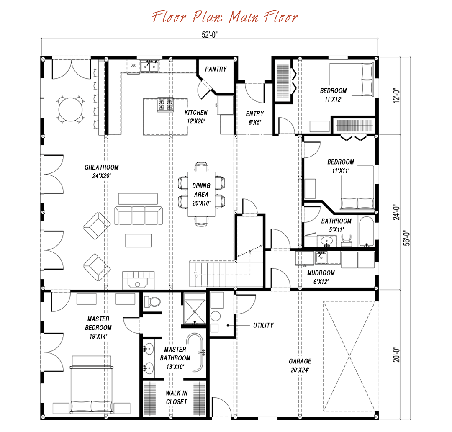 Great Plains Gambrel Floor Plan By Sand Creek Post Beam Floor Plans Timber House Gambrel Barn