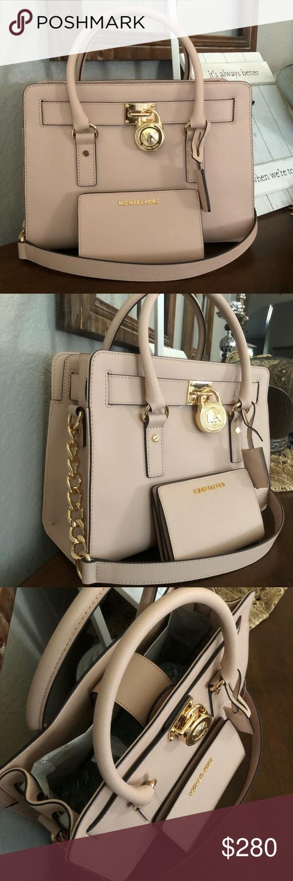 569aa09865f3 💖New Michael Kors Bag and wallet Michael Kors Hamilton Medium Lock and Key  (New