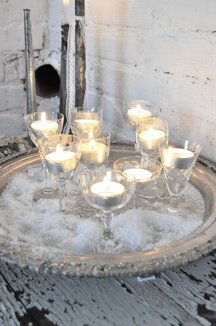 winter candle decorations wedding glasses candles winter elegant party ideas party decoration - Candle Decorations