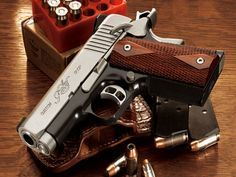 Kimber 1911 Compact CDP II 4 inch barrel, and shortened grip