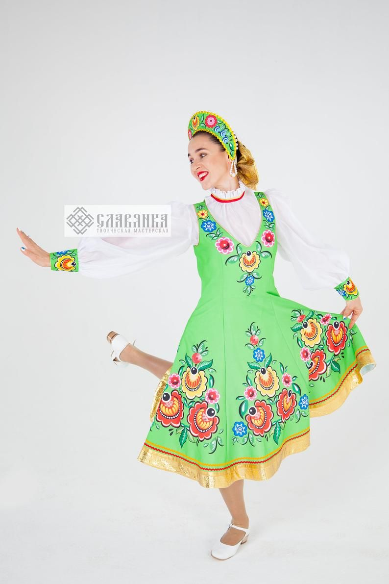 Dance costume gorodets on the green grass etsy in 2020
