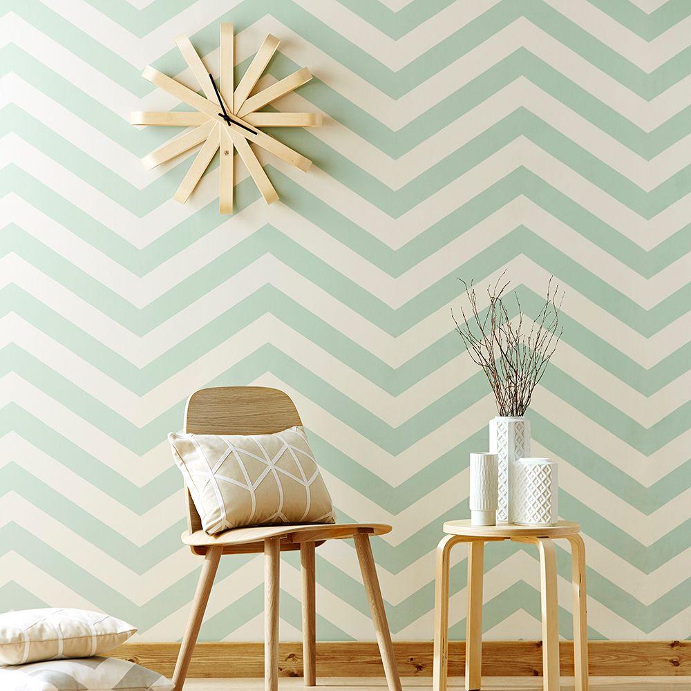 Tolles Zickzack Muster Von Scion Tapete Vector Turkis Moderne Tapeten Zimmer Tapete Tapete Schlafzimmer