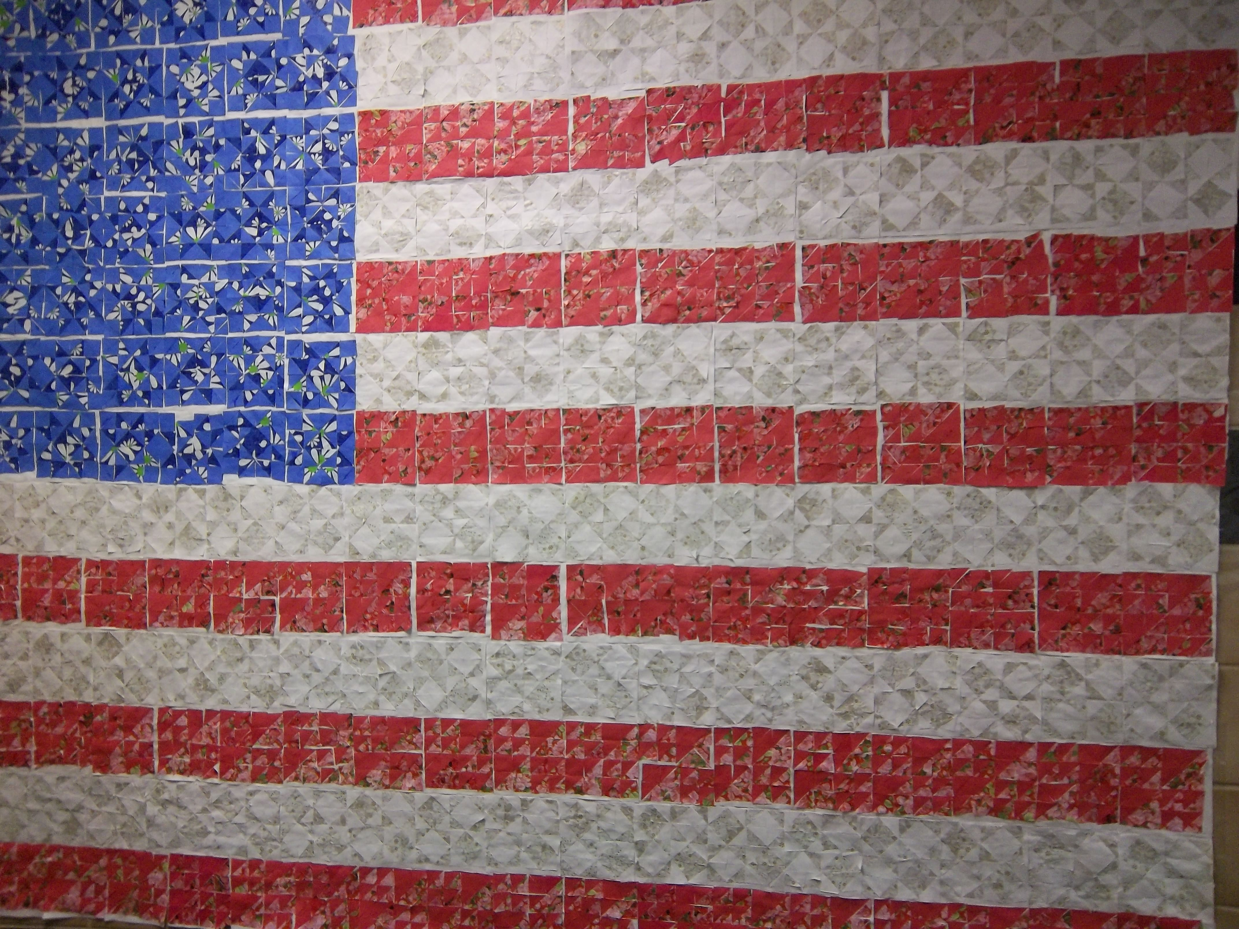 Us Flag Out Of Quilt Squares