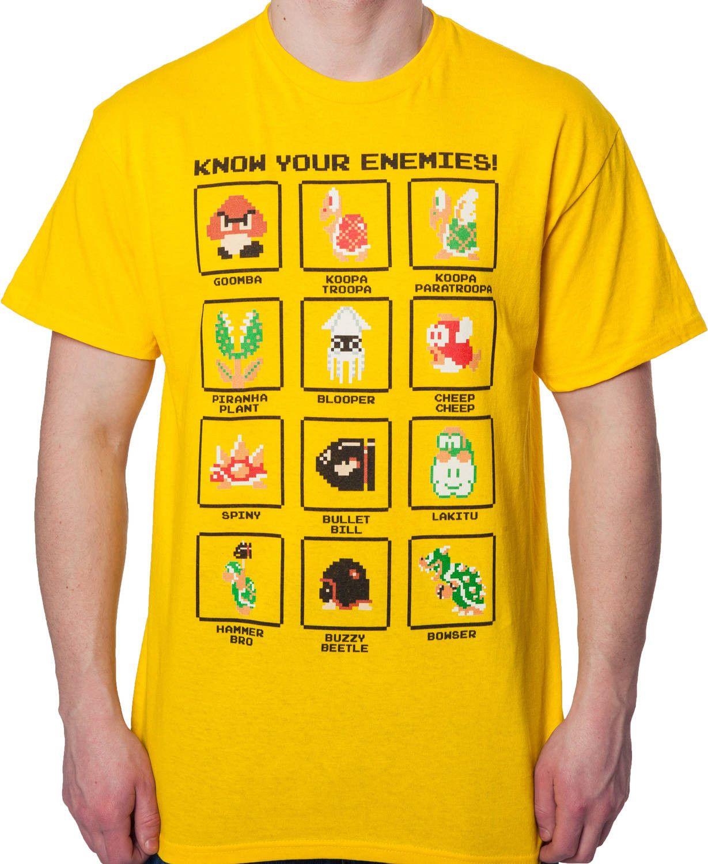587506ea Mario Enemies T-Shirt: Video Games Nintendo, Super Mario Bros T-shirt