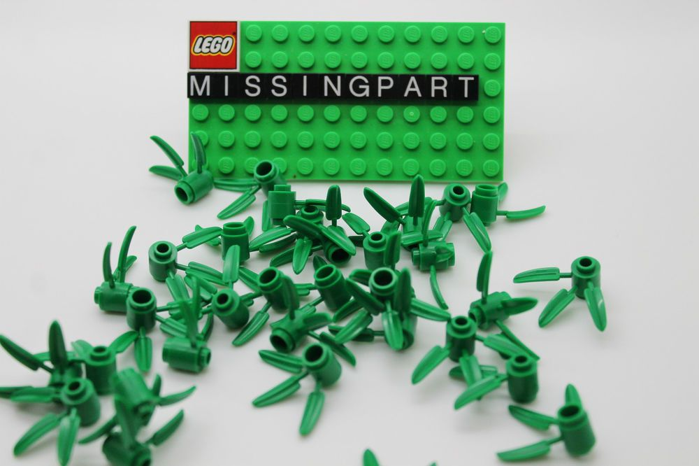 Green Plant Accessories Grass Roots LEGO 3741-20 Pieces Of Flower Stem