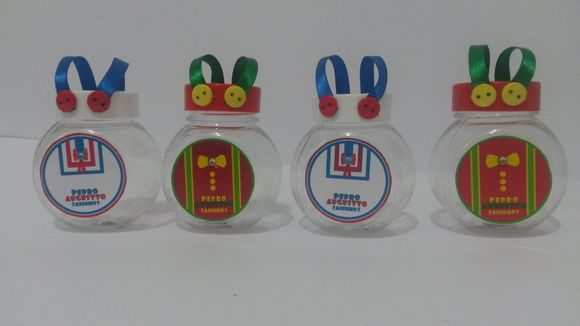 Baleiro Plastico Personalizados Com Adesivo Dos Personagens Patati