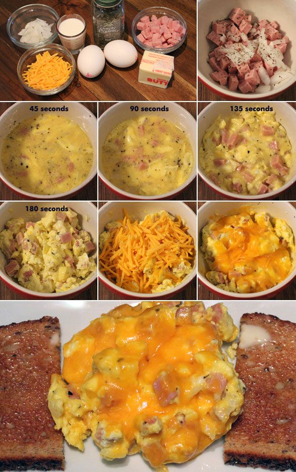 Scrambled Eggs and Ham (Microwave) Microwave recipes