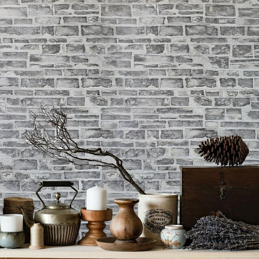 Farmhouse Lovers We Got Something For You Beautiful Slate Grate Stone Wallpaper Is Available Now At Wallcov In 2020 Faux Stone Walls Faux Stone Vinyl Wallpaper