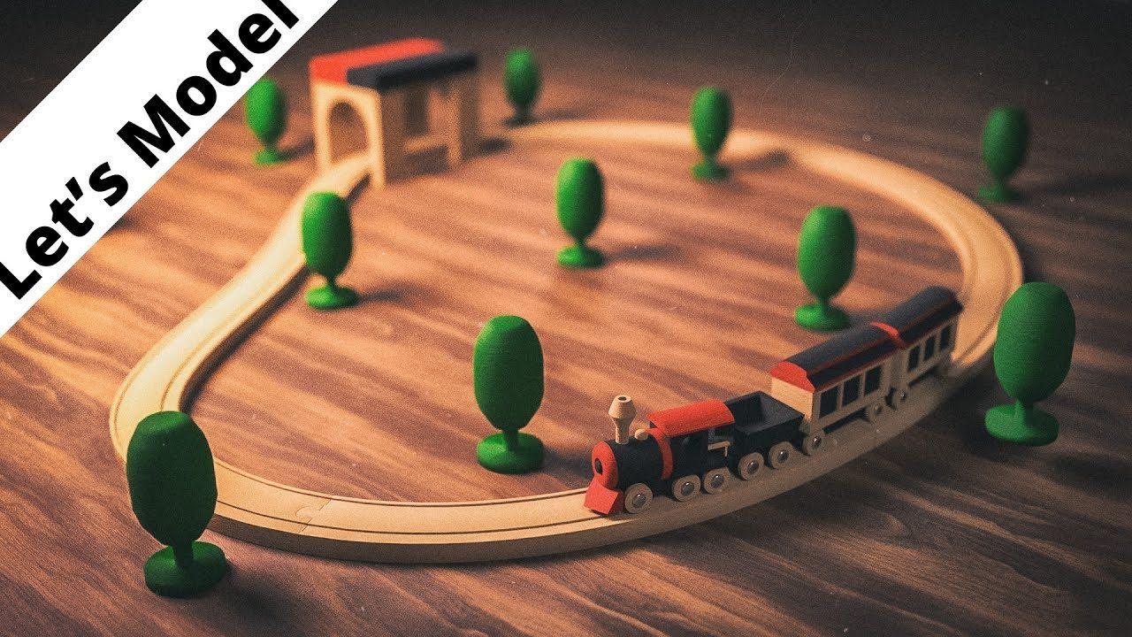 Modeling a toy train in Blender