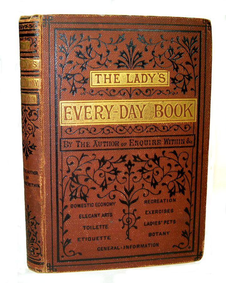 1880 Antique COOKBOOK Household ETIQUETTE Home Decor ...