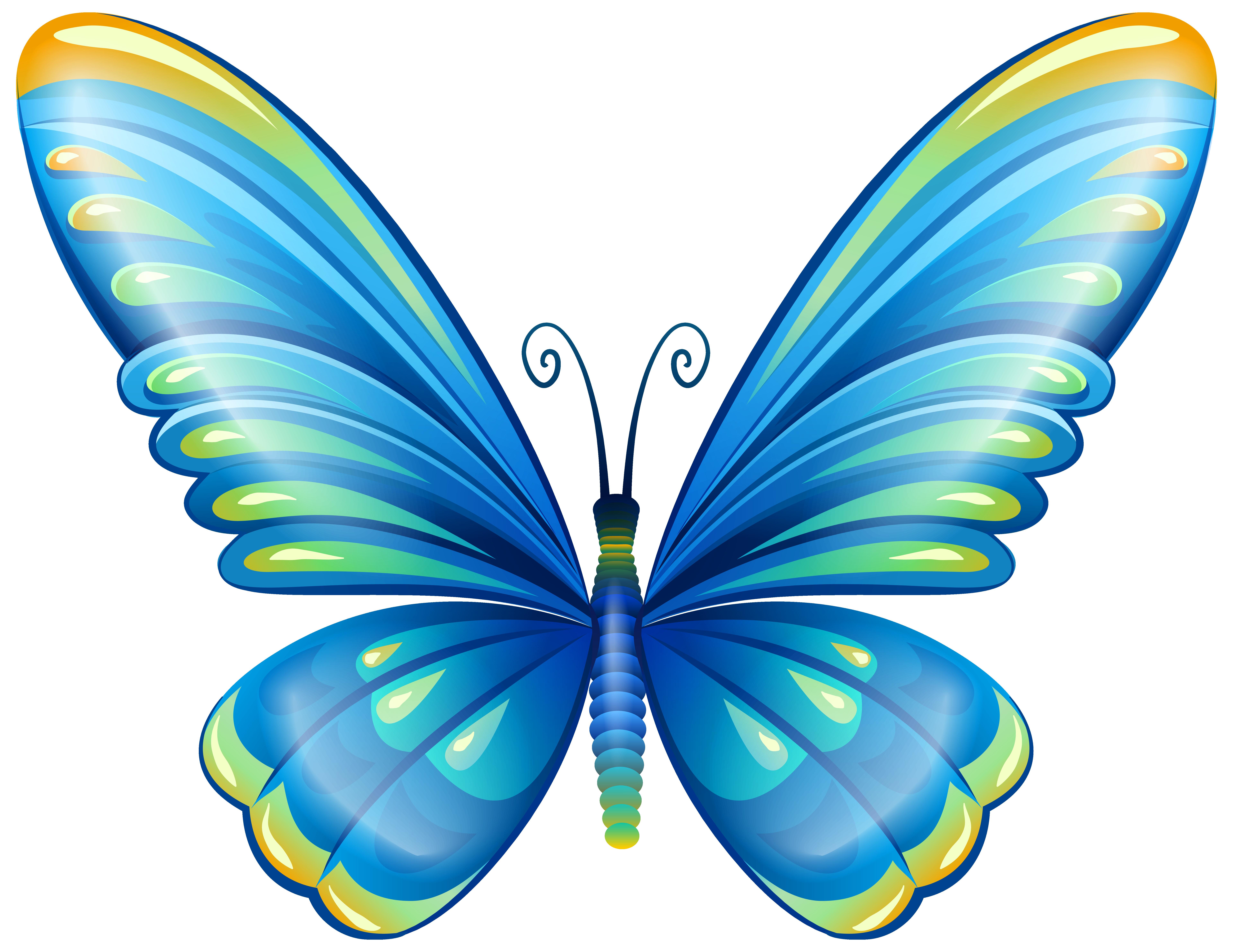 large art blue butterfly png clip art image clip art