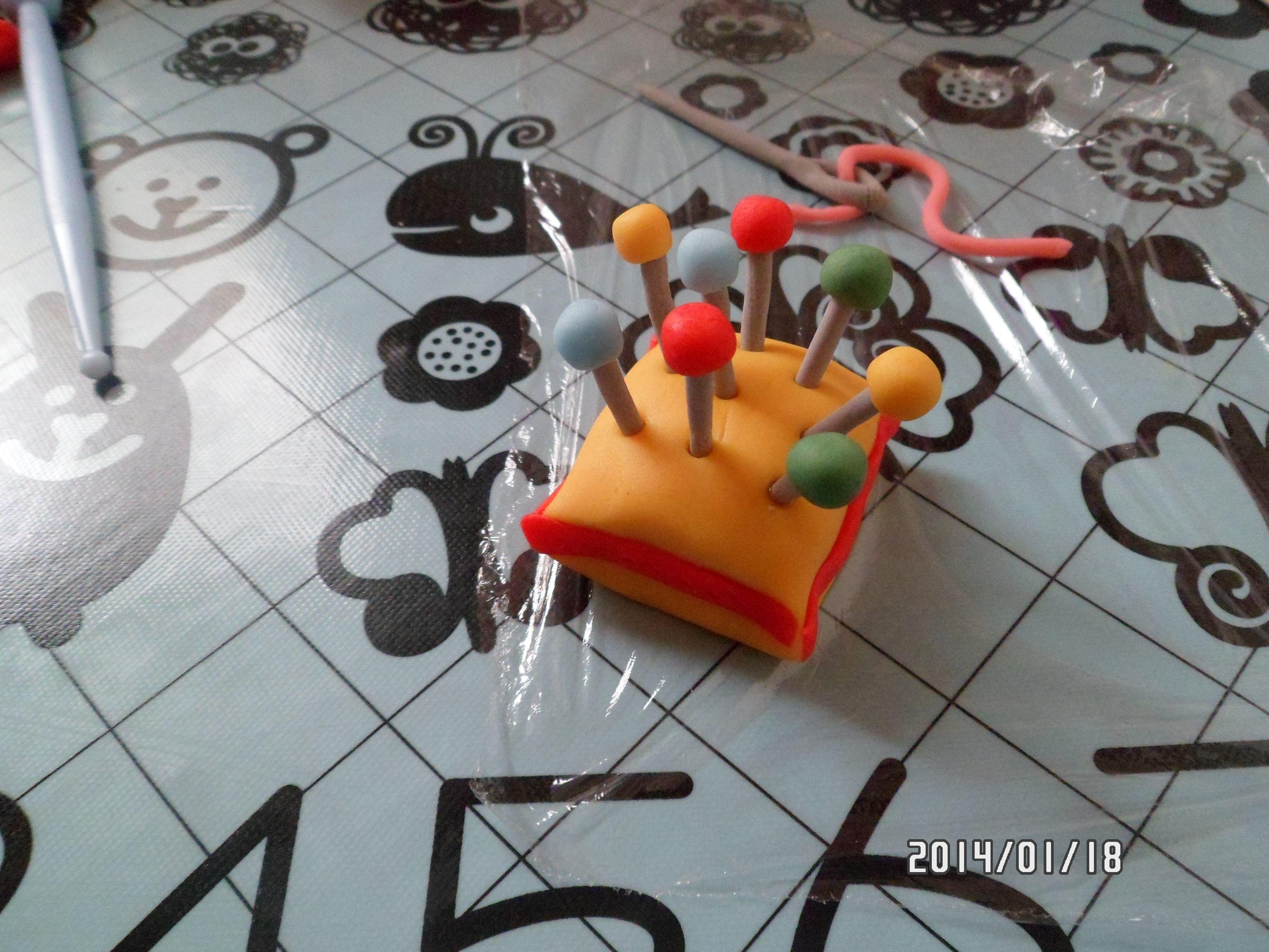 Nadelkissen Fondant Figuren Kleinigkeiten Nadelkissen