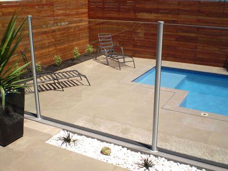 Pool Fence Piscina De Alvenaria Areas Externas Quintal