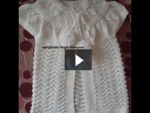 Yaprak Robalı Karnıbahar Modeli Bebek Yeleği (Bölüm1) - YouTube ...