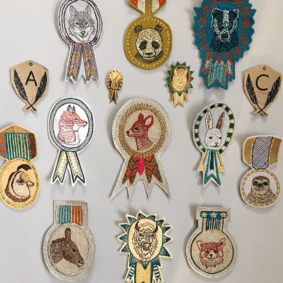Coral & Tusk embroidered badges