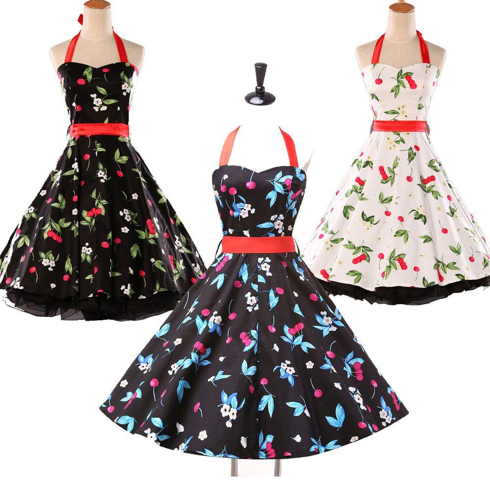 Marilyn Monroe 50s 60s Style Vintage Retro Dress Rockabilly Swing Party Dresses