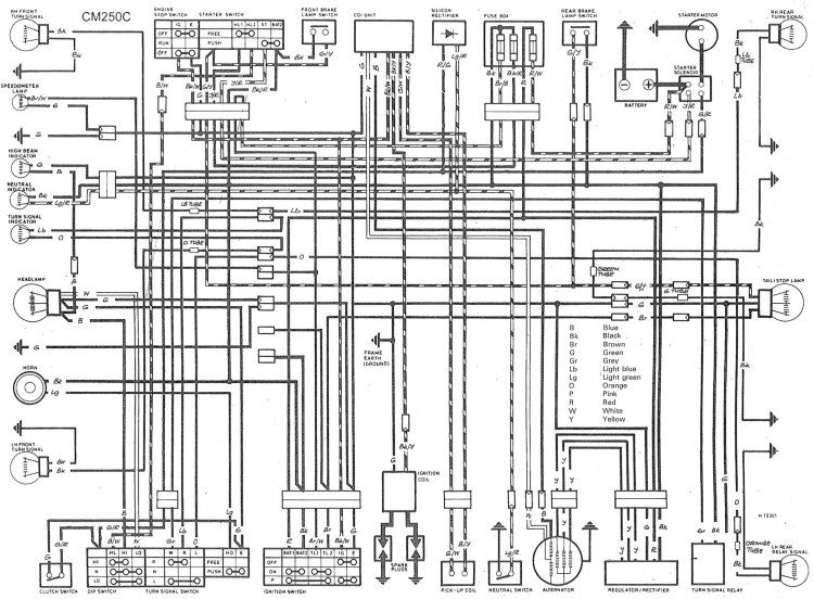 74 honda cb360 wiring diagram