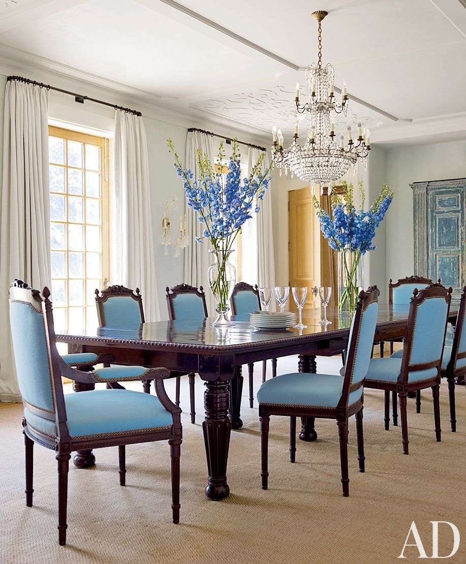 Traditional Dining Room By David Kleinberg Design Associates And Atelier Co In Philadelphia Pennsylvania