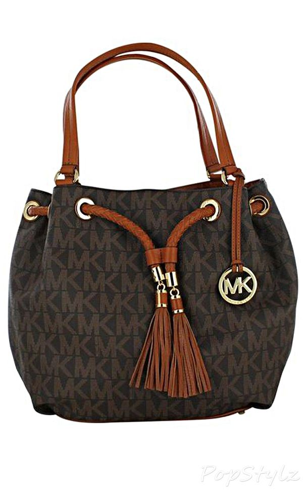 Michael Kors Jet Set Large Gathered Leather Tote