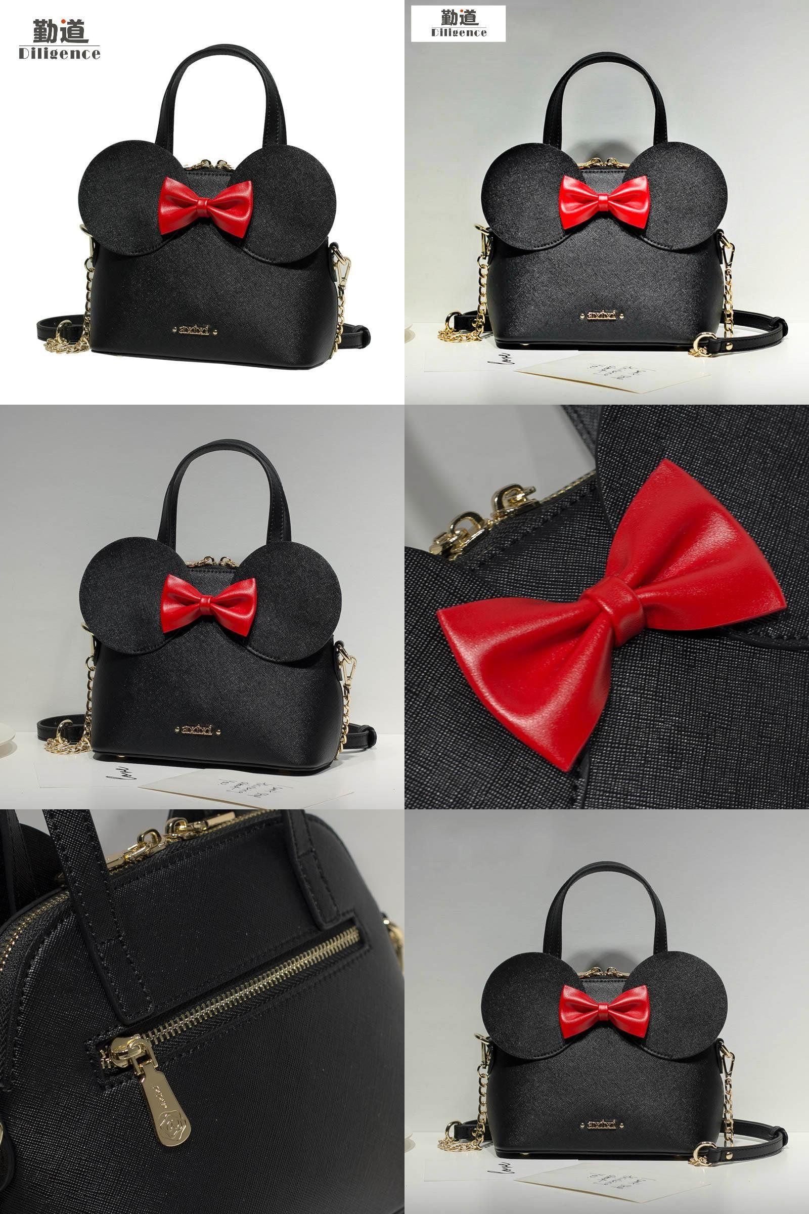 0576a88db944  Visit to Buy  Fashion New Handbags High Quality PU Leather Women Bag  Mickey Big