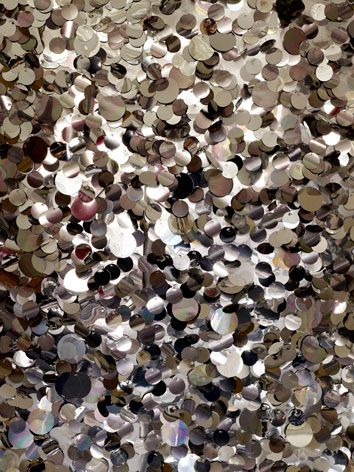 silver sequin wallpaper tracy kendall decorating ideas