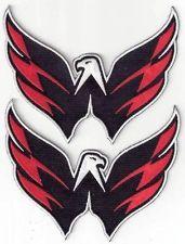 sale retailer c45d5 ad6b2 Lot of 2 nhl washington capitals team logo shoulder jersey ...