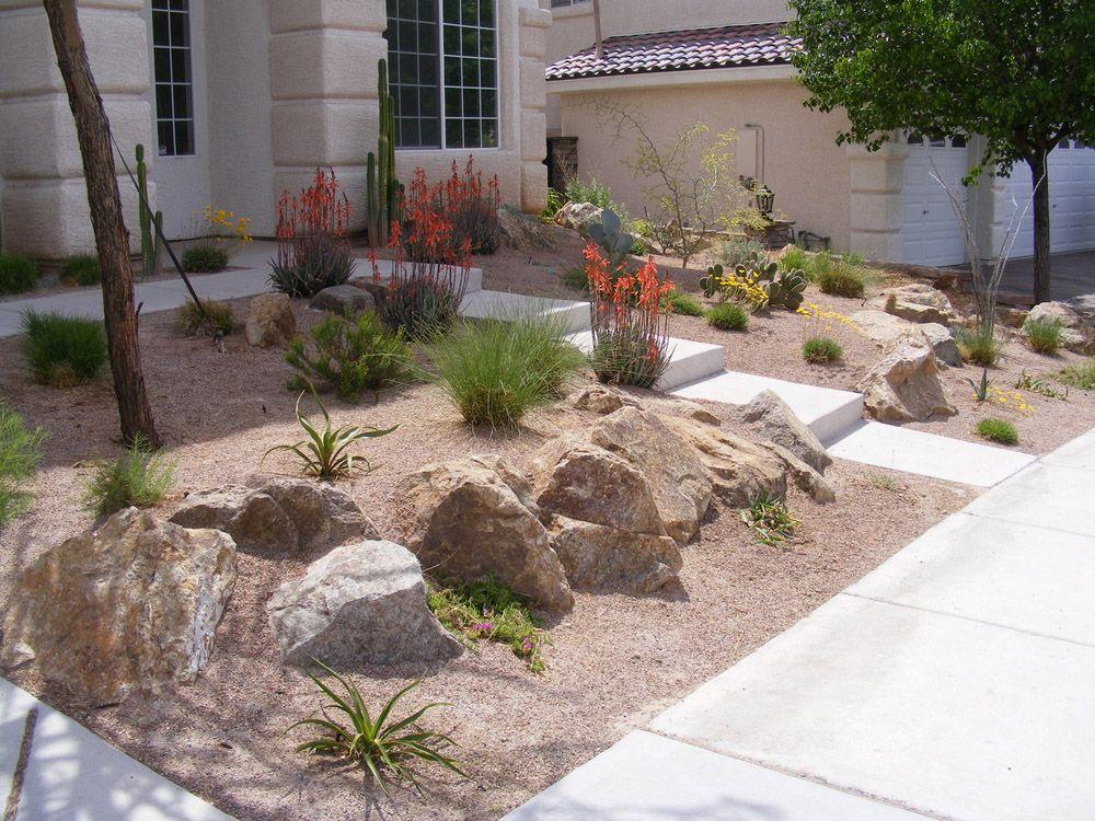 Desert Landscaping Rocks Decorating Ideas On The Yard Plus Stone