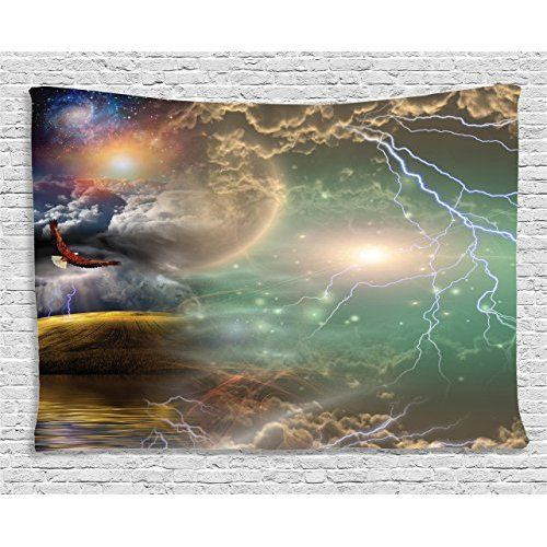 Solar System - OUTER Space PARTY Decorations - TABLECLOTH -Dangling SWIRLS - Planet DECOR - Science