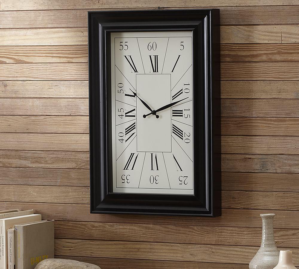 Rectangular Wall Clock Wall Clock Pottery Barn Clock Kitchen Wall Clocks