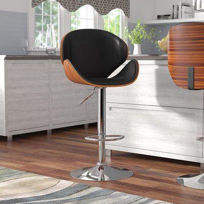 Marvelous Wade Logan Catina Adjustable Height Swivel Bar Stool Uwap Interior Chair Design Uwaporg