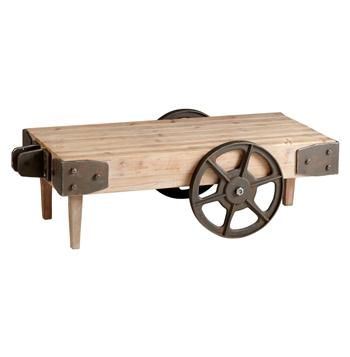 Exceptionnel Wilcox Industrial Rustic Wagon Cart Coffee Table
