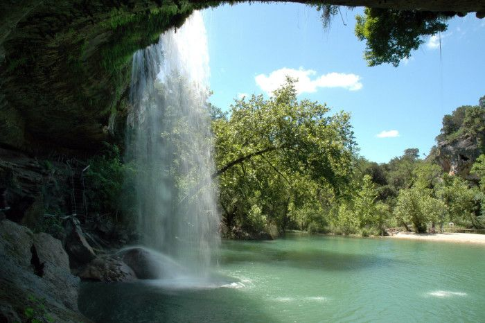 ' most famous attraction is the Hamilton Pool Nature Preserve, a breathtaking natural grotto and wildly popular swimming hole in the summer.
